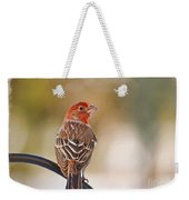 Male House Finch - Digital Paint And Frame Weekender Tote Bag