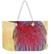 Male Housefinch - Digital Paint Weekender Tote Bag