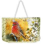 Male Housefinch Photoart Weekender Tote Bag