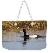 Male Lesser Scaup Weekender Tote Bag