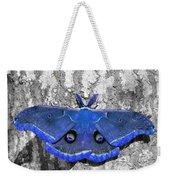 Male Moth - Brilliant Blue Weekender Tote Bag