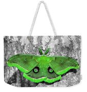Male Moth Green Weekender Tote Bag by Al Powell Photography USA
