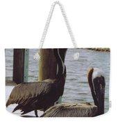 Male Pelicans Weekender Tote Bag