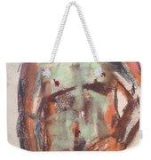 Male Seafoam And Violet Brown Weekender Tote Bag