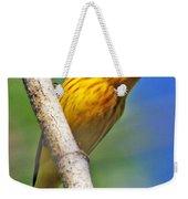 Male Yellow Warbler Weekender Tote Bag