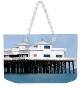 Malibu Pier On A California Blue Sky Day Weekender Tote Bag