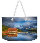 Maligne Boat House Weekender Tote Bag
