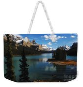 Maligne Lake Beauty Of The Canadian Rocky Mountains Weekender Tote Bag