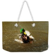 Mallard Bath Time Weekender Tote Bag
