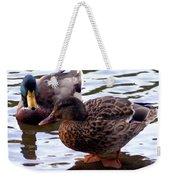 Mallard Drake And Hen Weekender Tote Bag