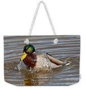 Mallard Drake Bathing Weekender Tote Bag