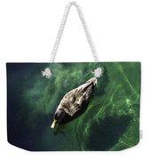 Mallard Duck On Green Pool Weekender Tote Bag