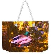 Mallard Duck On Pond 1 Weekender Tote Bag