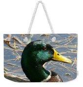 Mallard Duck Portrait Weekender Tote Bag