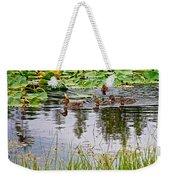 Mallard Ducks In Heron Pond In Grand Teton National Park-wyoming  Weekender Tote Bag