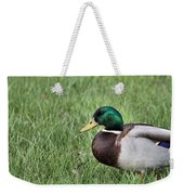 Mallard In The Grass Weekender Tote Bag