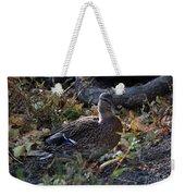 Mallard In The Grass Weekender Tote Bag