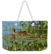 Mallard Mom And The Kids Weekender Tote Bag