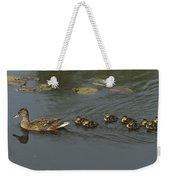 Mallard Mother With Ducklings Weekender Tote Bag