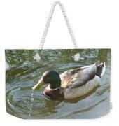 Mallard Swimming Weekender Tote Bag