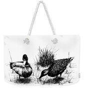 Mallards In The Marsh Weekender Tote Bag