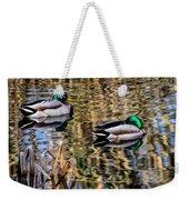 Mallards In The Reeds Weekender Tote Bag
