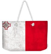 Malta Flag Vintage Distressed Finish Weekender Tote Bag
