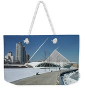 Mam In Winter With Jogger Weekender Tote Bag