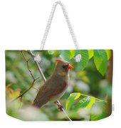 Mama Cardinal Weekender Tote Bag