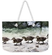Mama Duckies And Her Babies Weekender Tote Bag