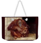 Mama N Baby Orangutan - 54 Weekender Tote Bag