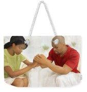 Man And Wife Pray Weekender Tote Bag