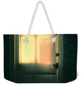 Man At Door With Cleaver Weekender Tote Bag