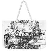 Man At The Bar Weekender Tote Bag