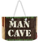 Man Cave Do Not Disturb Weekender Tote Bag by Debbie DeWitt