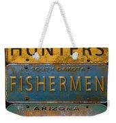 Man Cave-license Plate Art Weekender Tote Bag