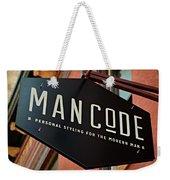 Man Code Weekender Tote Bag