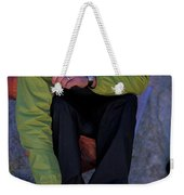 Man Eating Out Of A Small Bowl Weekender Tote Bag