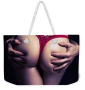 Man Hands On Sexy Woman Buttocks Weekender Tote Bag