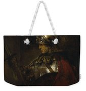 Man In Armor Weekender Tote Bag