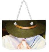 Man In Hat Weekender Tote Bag