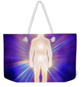 Man Luminous Ethereal Body Energy Emanations Concept Weekender Tote Bag