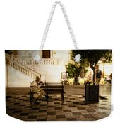 Man On The Bench Weekender Tote Bag