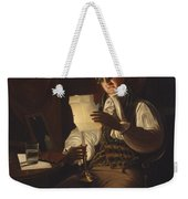 Man Reading By Candlelight Weekender Tote Bag