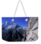 Man Rock Climbing Weekender Tote Bag