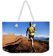 Man Running In Moab, Utah Weekender Tote Bag