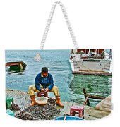 Man Selling Fresh Mussels On The Bosporus In Istanbul-turkey  Weekender Tote Bag