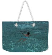 Man Swimming Weekender Tote Bag