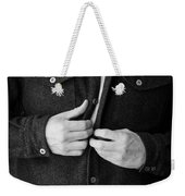 Man Unbuttoning His Shirt Weekender Tote Bag by Edward Fielding