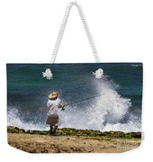 Man Versus The Sea Weekender Tote Bag